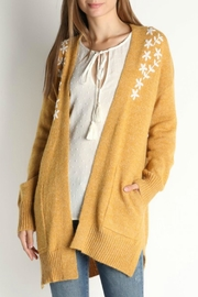 Skies Are Blue Flower Pocket Cardigan - Front cropped
