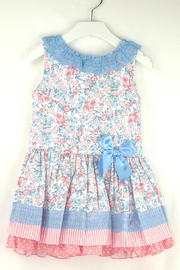 Dolce Petit Flower Polkadots Dress - Front cropped