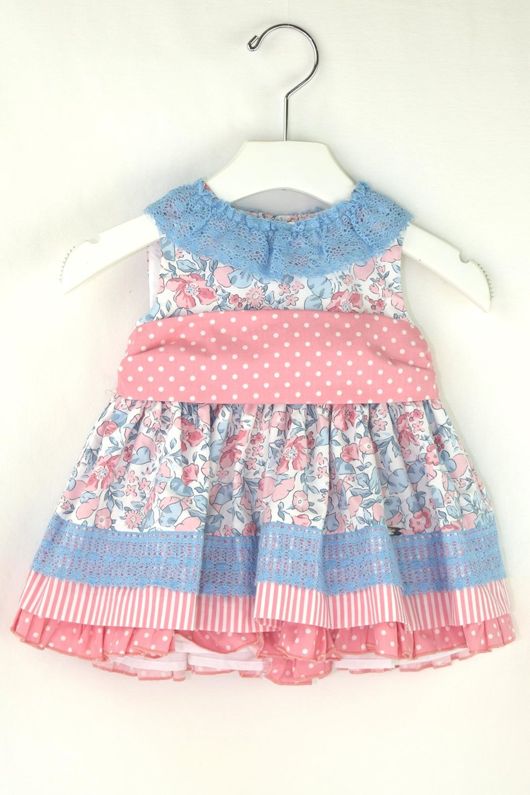 Dolce Petit Flower Polkadots Dress - Front Cropped Image