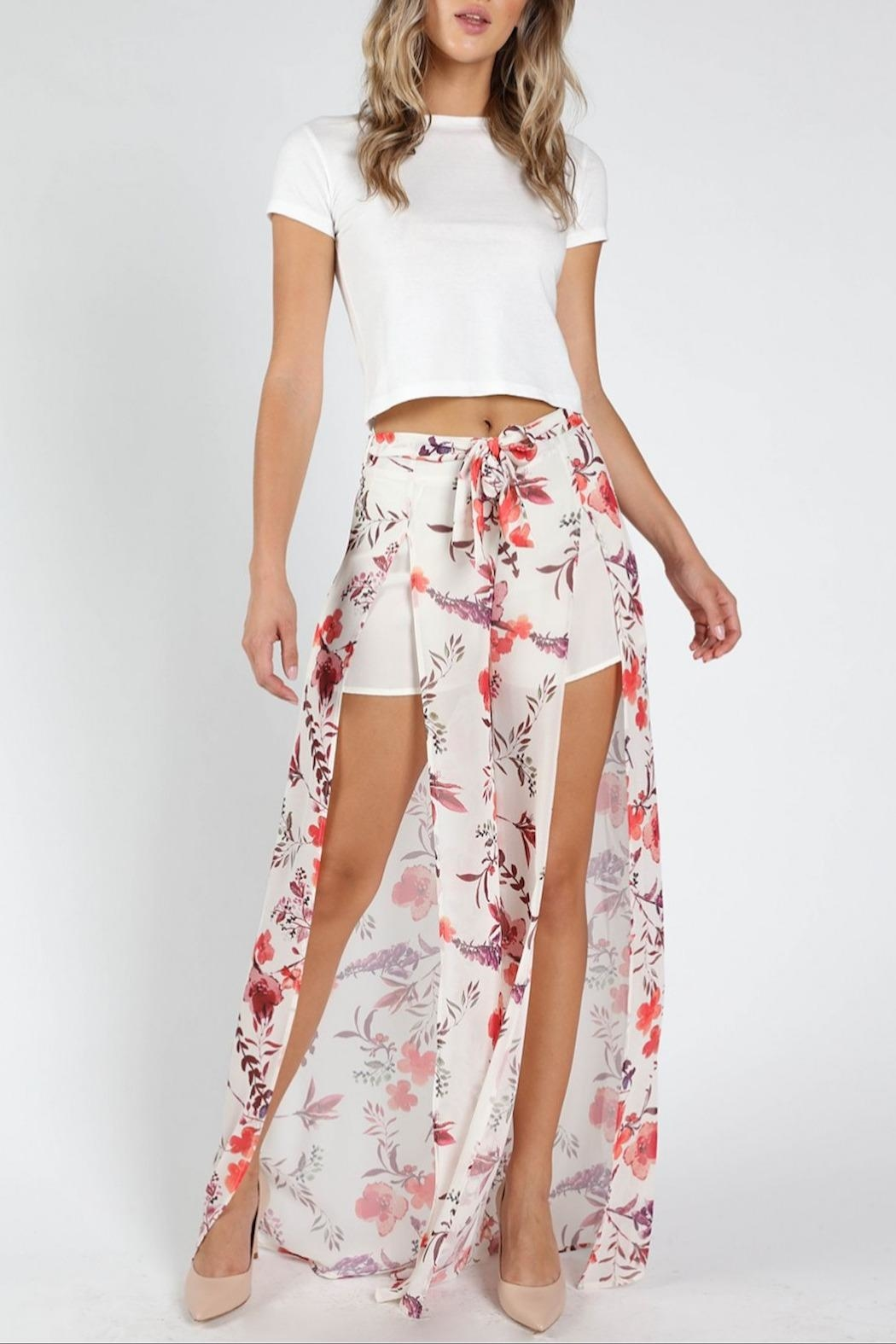 Honey Punch Flower Power Pants - Main Image