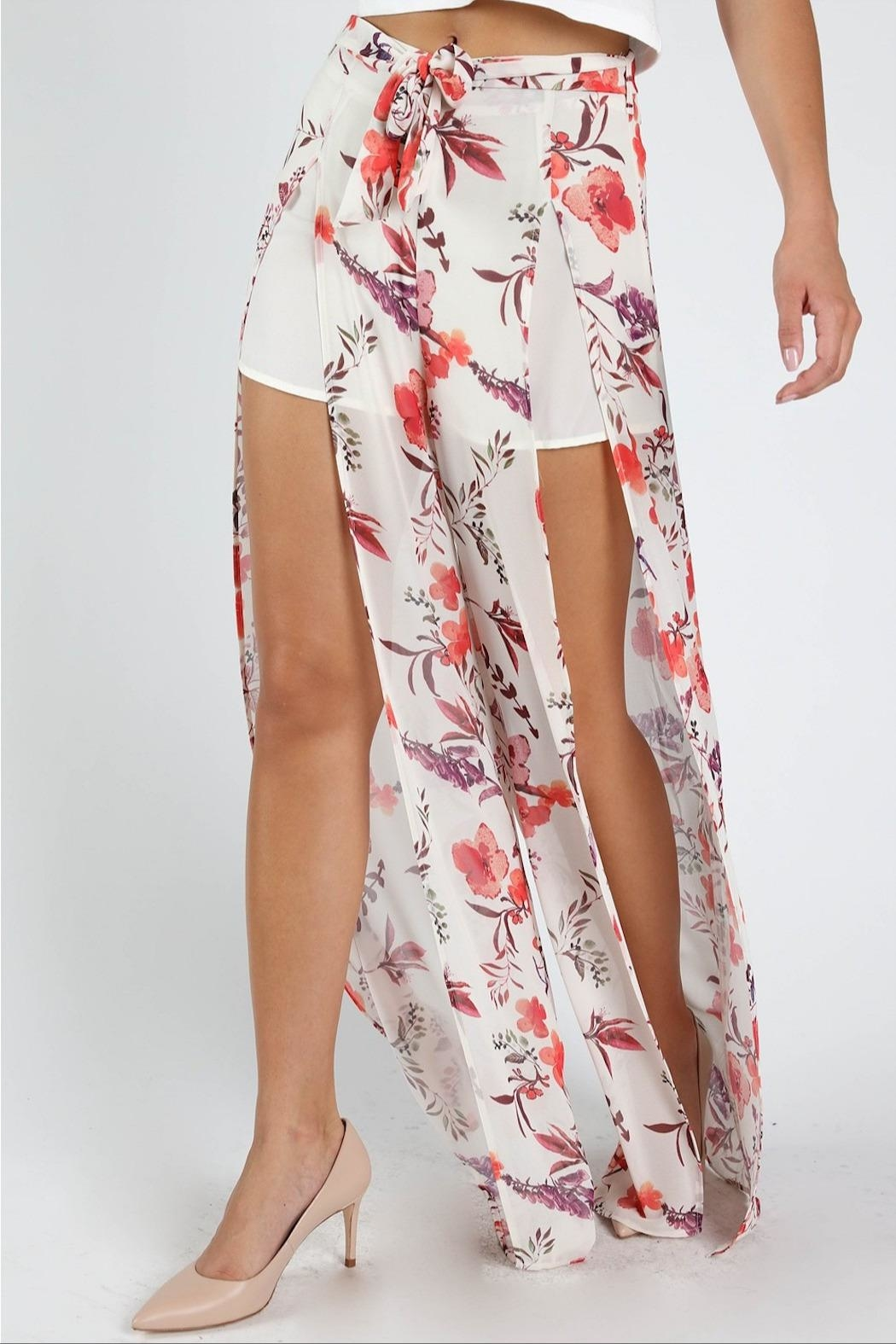 Honey Punch Flower Power Pants - Side Cropped Image