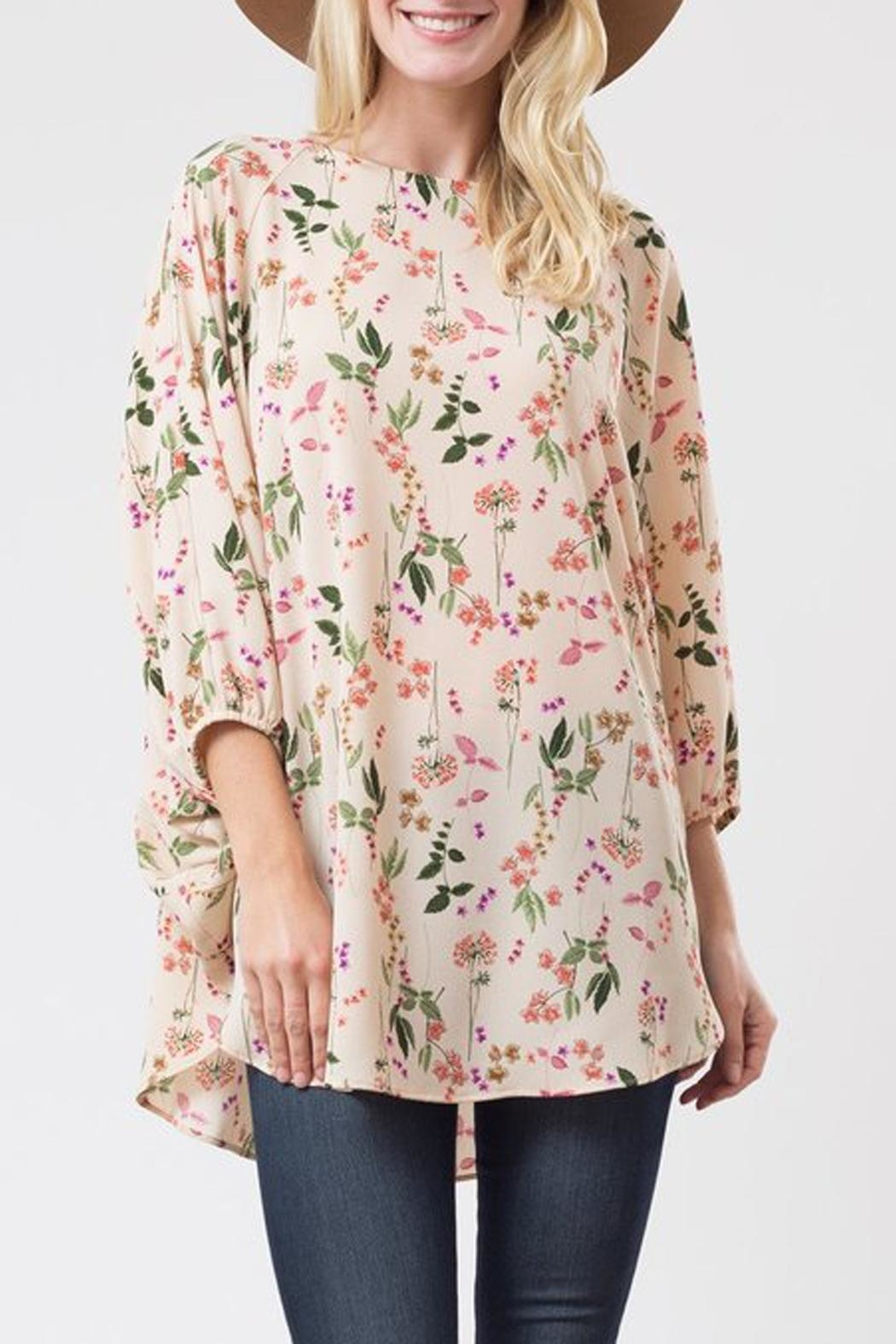 Love in  Flower Print Blouse - Main Image