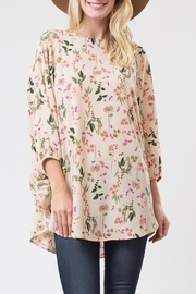 Love in  Flower Print Blouse - Front cropped