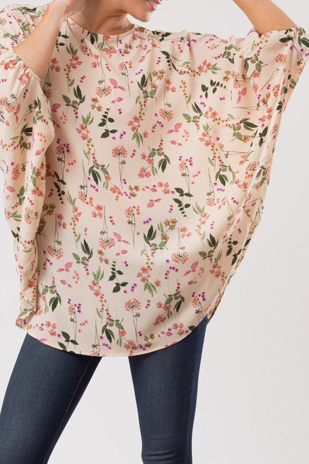 Love in  Flower Print Blouse - Front Full Image