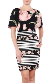 Biscuit Flower Print Dress - Product Mini Image