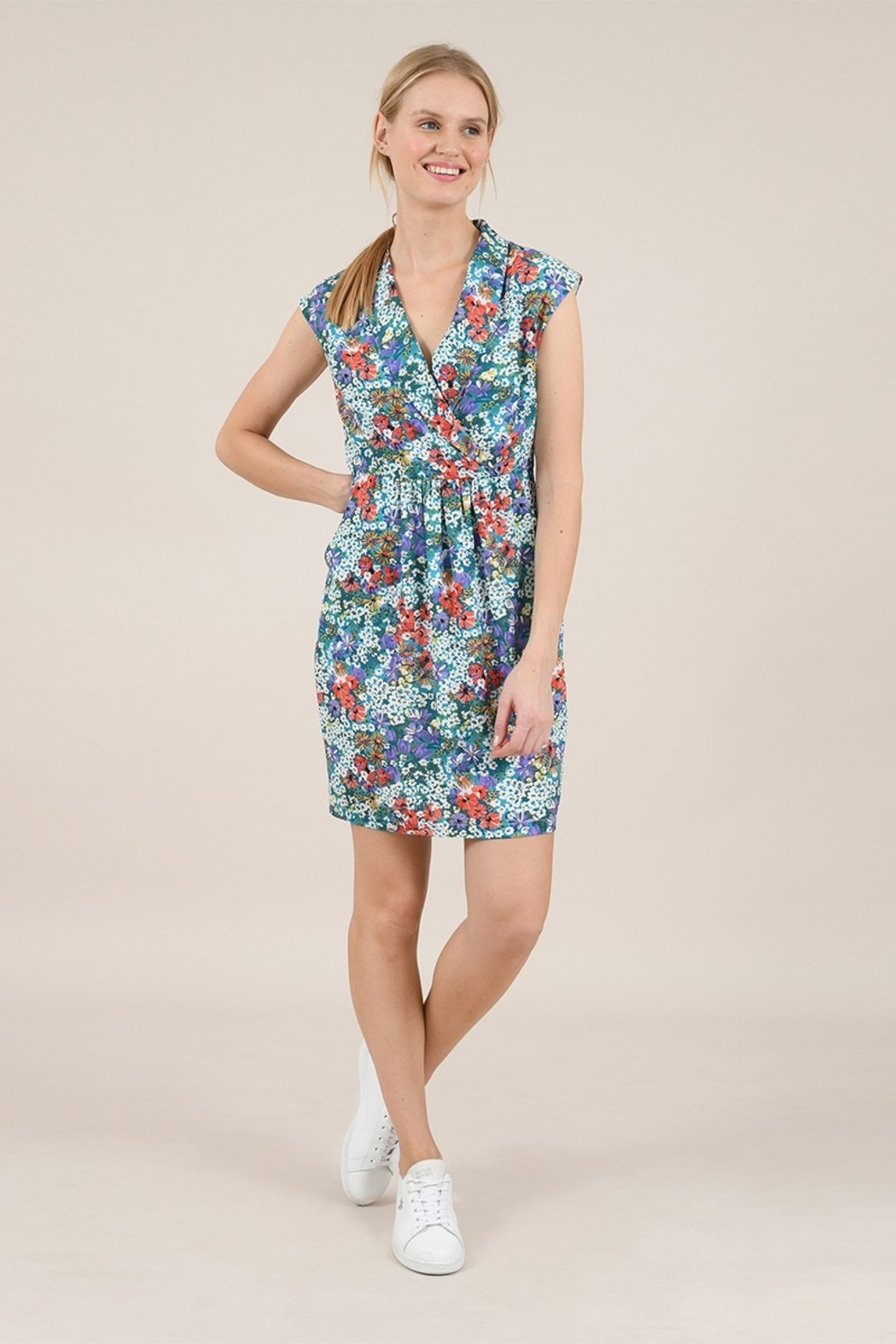 Molly Bracken Flower Print Dress - Front Cropped Image