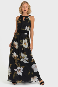 Joseph Ribkoff Flower Print Gown - Product List Image