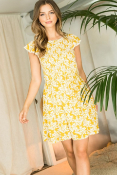 Thml Flower Print Smocked Dress - Product List Image