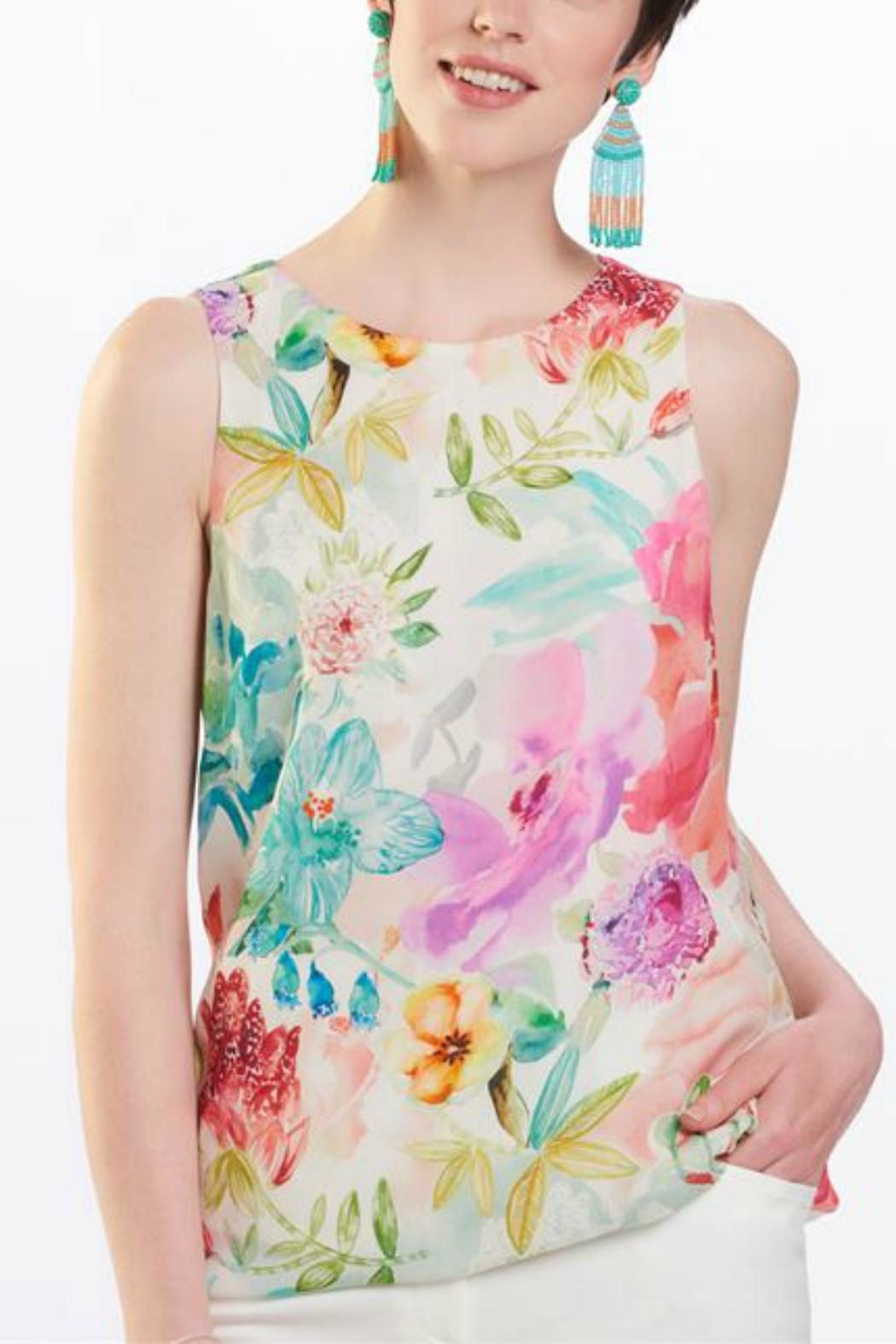 Charlie Paige Flower Print Top - Front Cropped Image