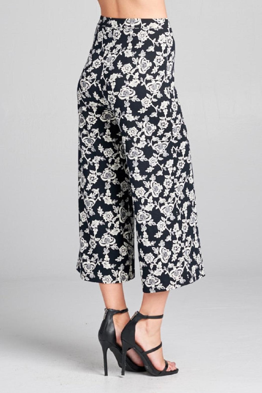 DNA Couture Flower Printed Pants - Main Image