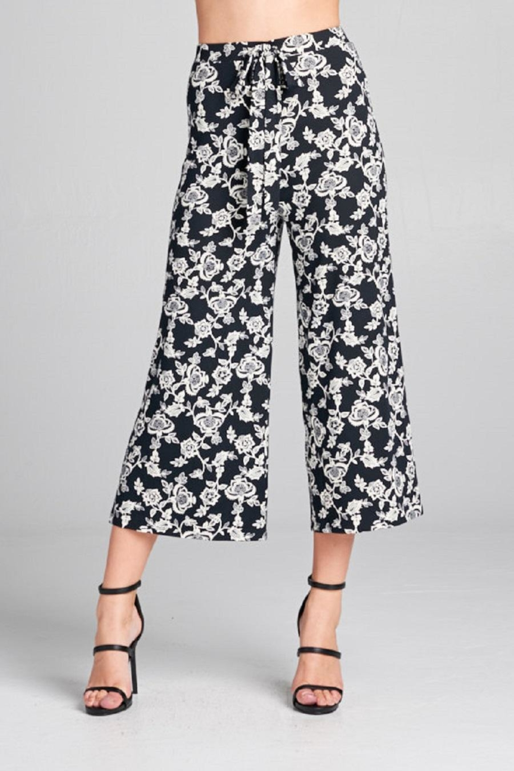 DNA Couture Flower Printed Pants - Front Full Image