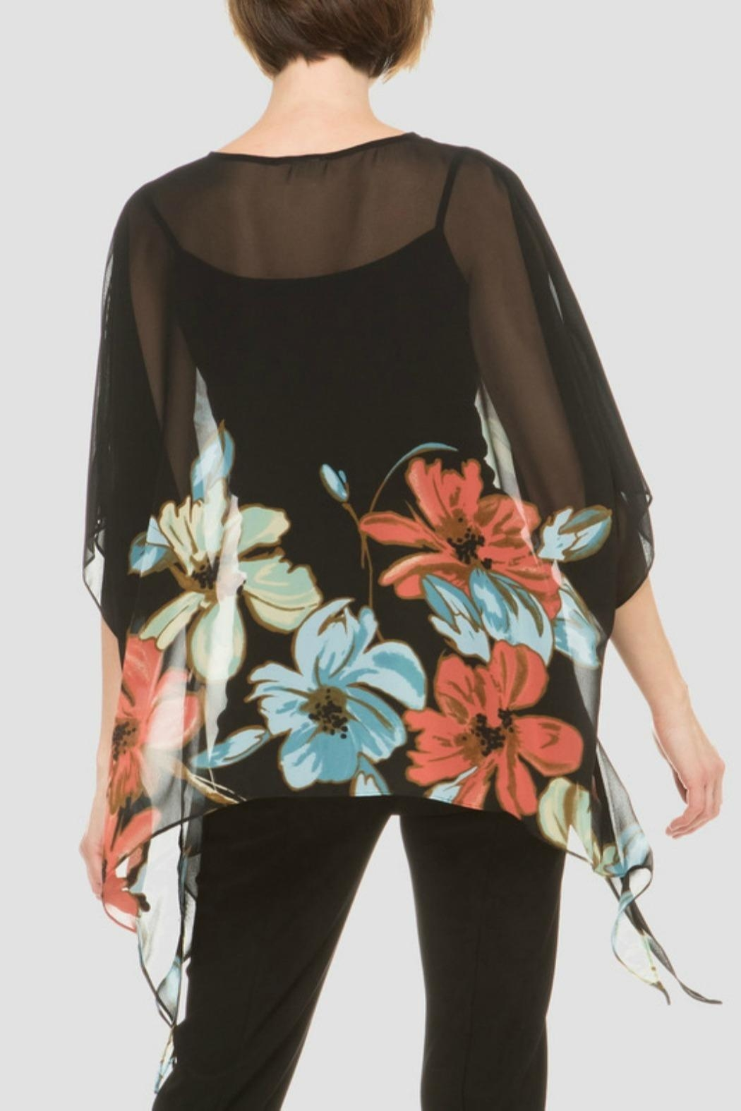 Joseph Ribkoff Flower Printed Top - Side Cropped Image