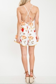 Latiste Flower Romper W/border - Front full body
