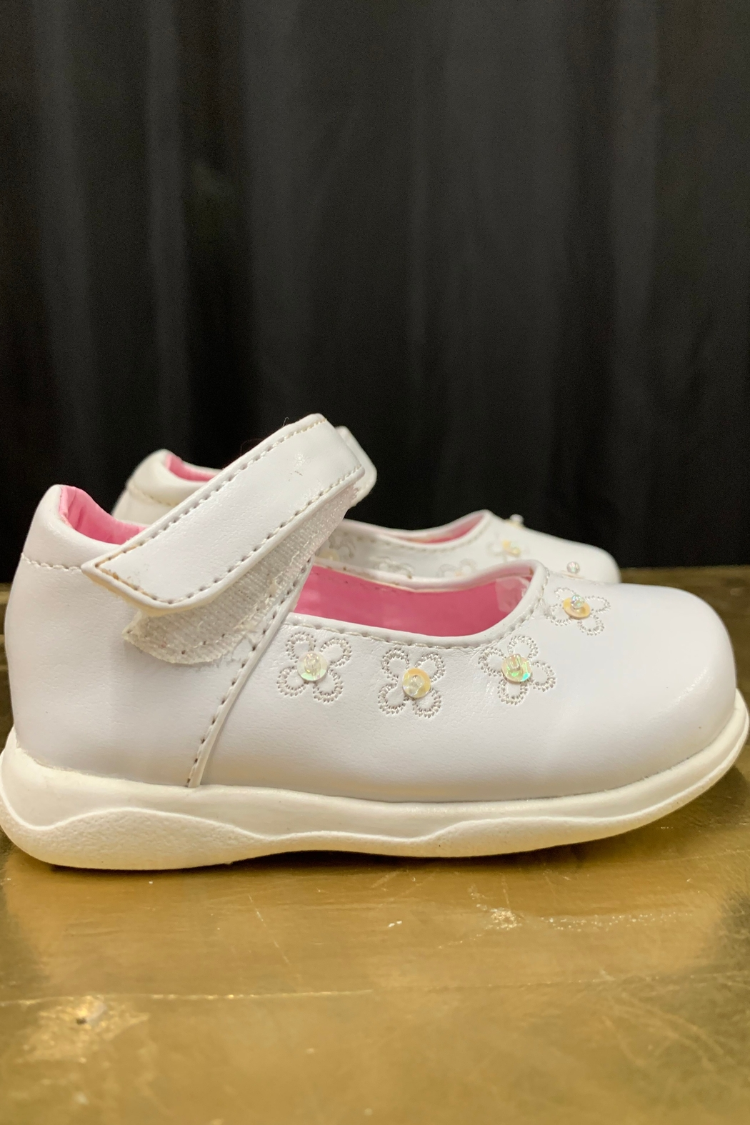 Little Angel Flower Sequin Shoes - Side Cropped Image