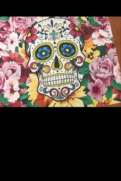 New Mix Flower Skull Tapestry - Alternate List Image