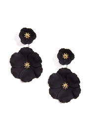 Earthy Chic Flower Statement Earrings - Product Mini Image