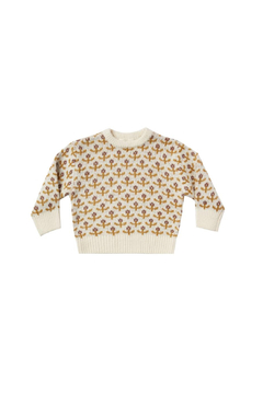 Shoptiques Product: Flower Stitch Pullover Sweater