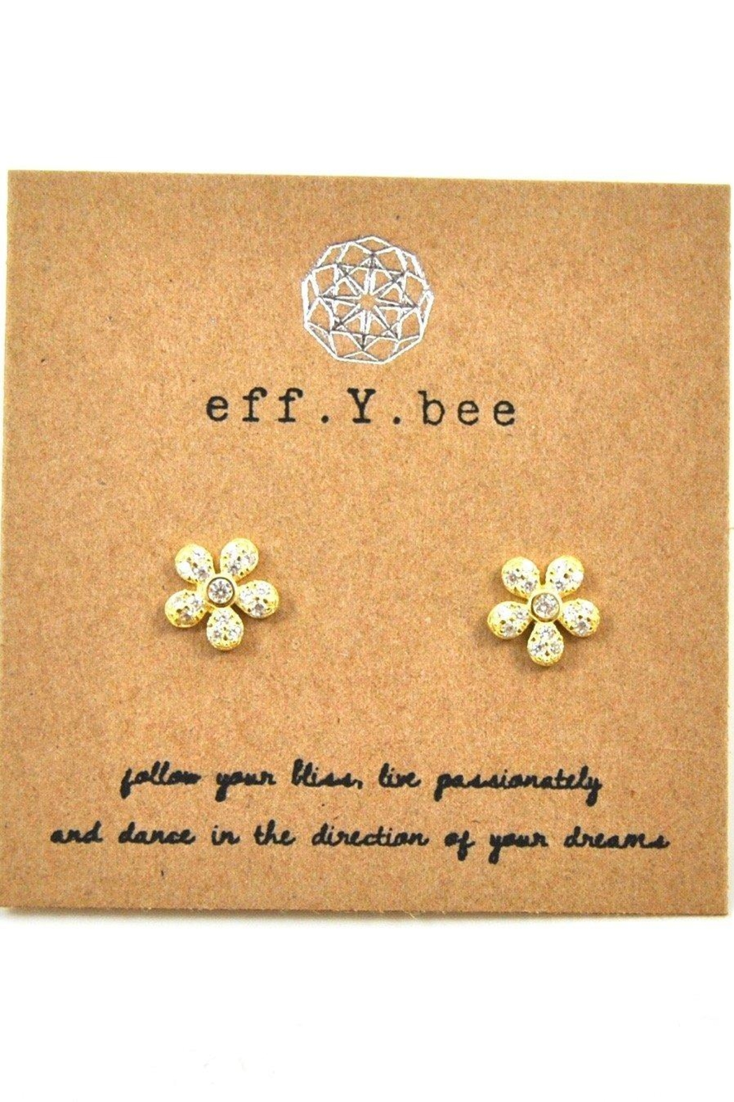 Lets Accessorize Flower Studs - Front Cropped Image