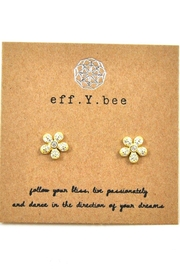 Lets Accessorize Flower Studs - Front cropped