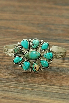 Shoptiques Product: Flower Turquoise Cuff