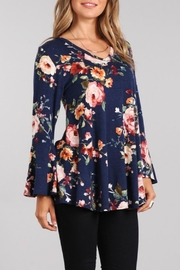 Chris & Carol Flowered Tunic Top - Product Mini Image