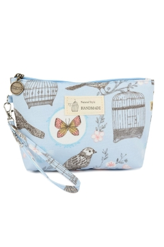 Shoptiques Product: Flowers-And-Birds Wristlet-Cosmetic-Bags