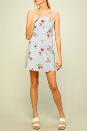 ALB Anchorage Flowers-And-Stripes Back-Tie Dress - Product Mini Image