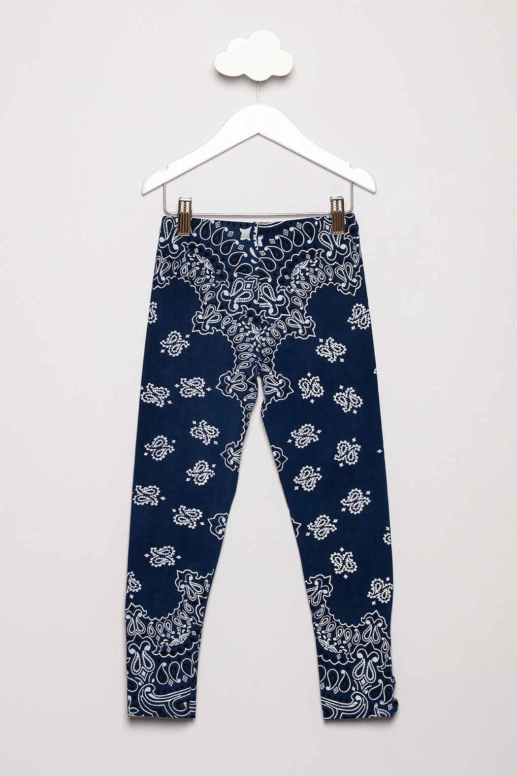 Flowers by Zoe Bandana Print Leggings - Back Cropped Image
