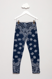 Flowers by Zoe Bandana Print Leggings - Back cropped