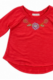 Mimi and Maggie Flowers Embroidered Knit Top - Front cropped