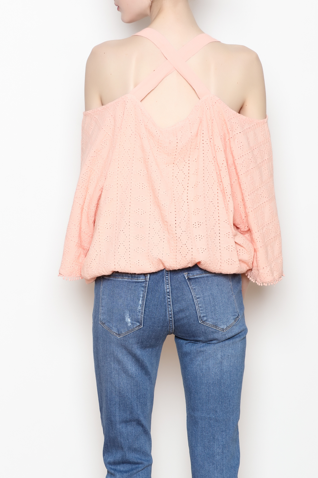 Flowers of Romance Blush Cora Top - Back Cropped Image