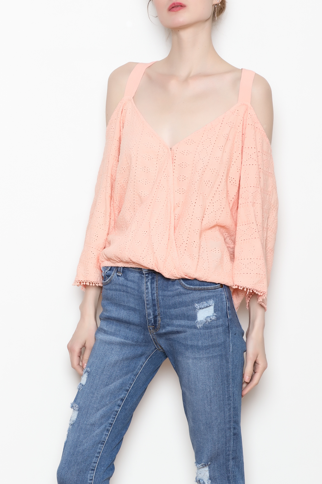 Flowers of Romance Blush Cora Top - Front Full Image