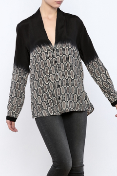 Shoptiques Product: Printed Button Up Top