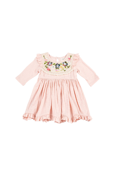 Mimi and Maggie Flowers On Lace Dress - Product List Image