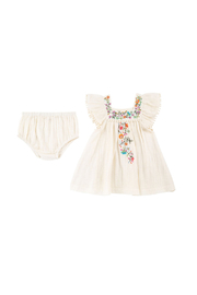 Mimi and Maggie Flowers on the Vine Dress and Diaper Cover - Front cropped