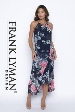 Frank Lyman Flowing Floral Chiffon Dress - Product List Image