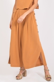 Very J Flowy Button Detail Pant - Product Mini Image
