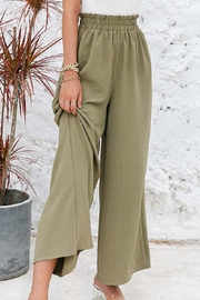 Esley Collection Flowy Elastic Waist Pants - Product Mini Image