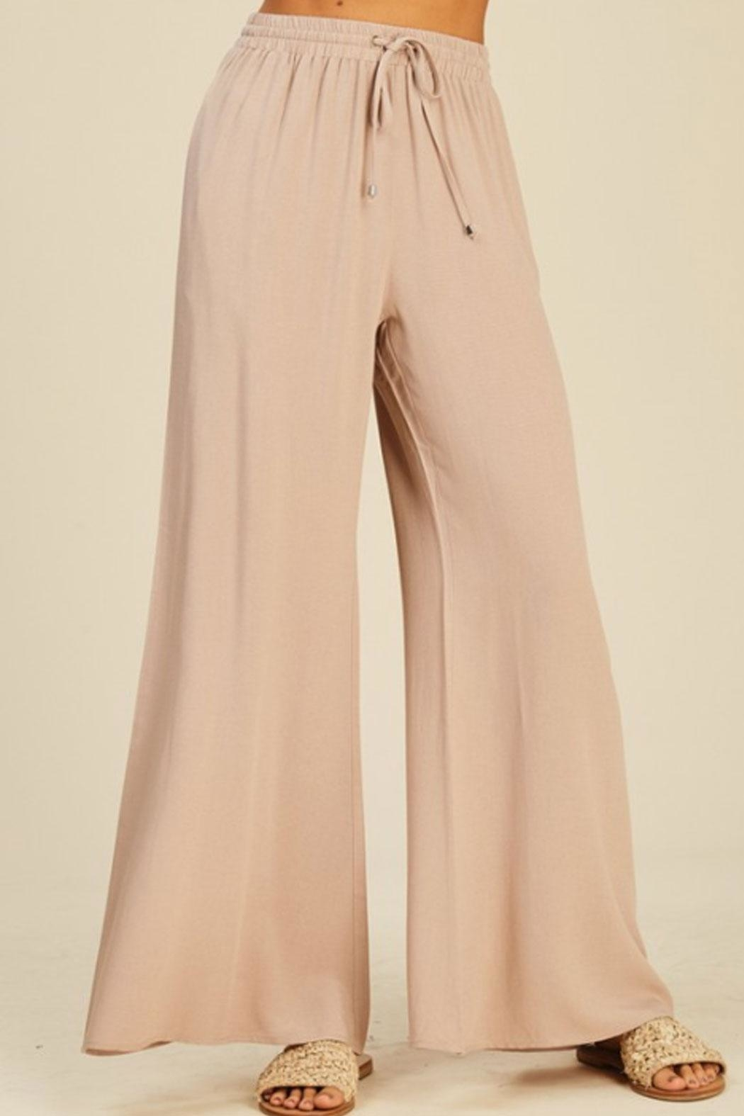 annabelle Flowy Flare Pants - Front Full Image