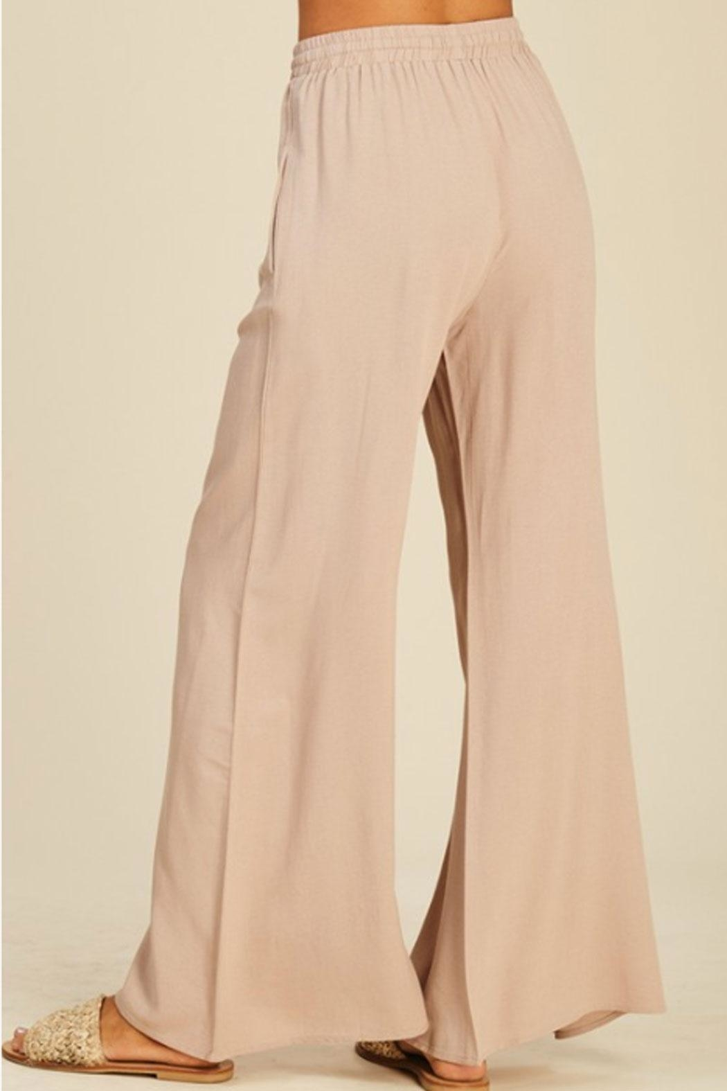 annabelle Flowy Flare Pants - Back Cropped Image