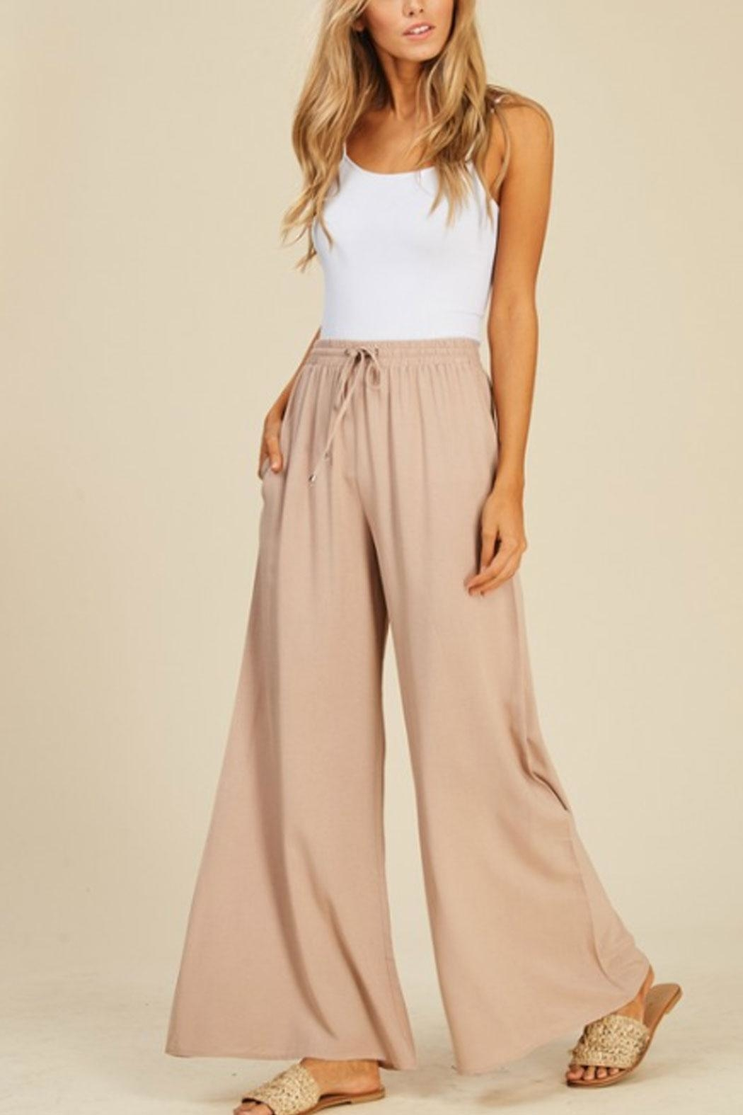 annabelle Flowy Flare Pants - Main Image