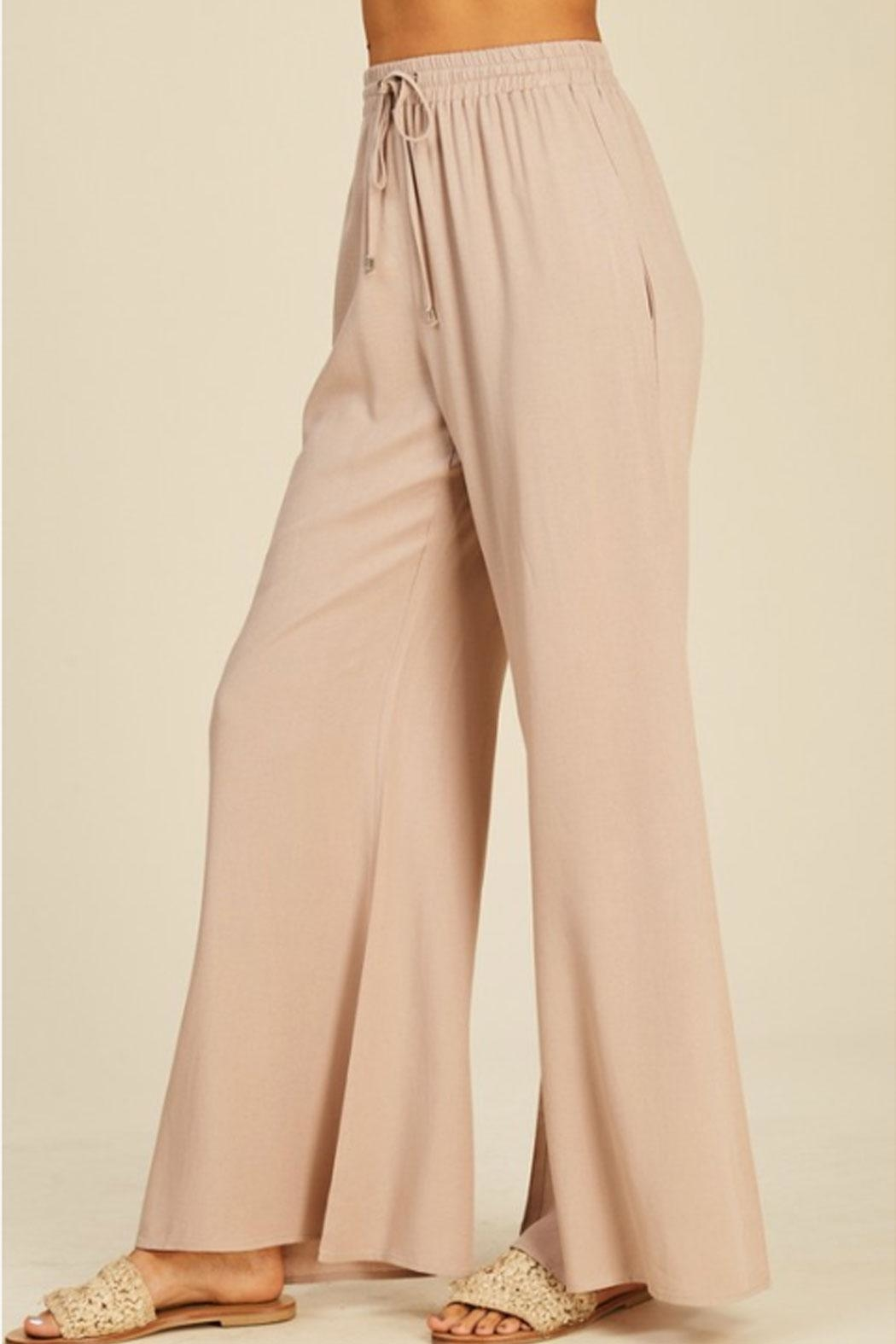 annabelle Flowy Flare Pants - Side Cropped Image