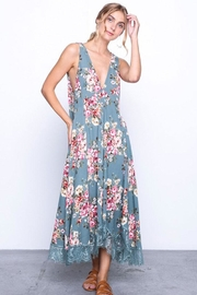 Grade and Gather Flowy Floral Dress - Back cropped