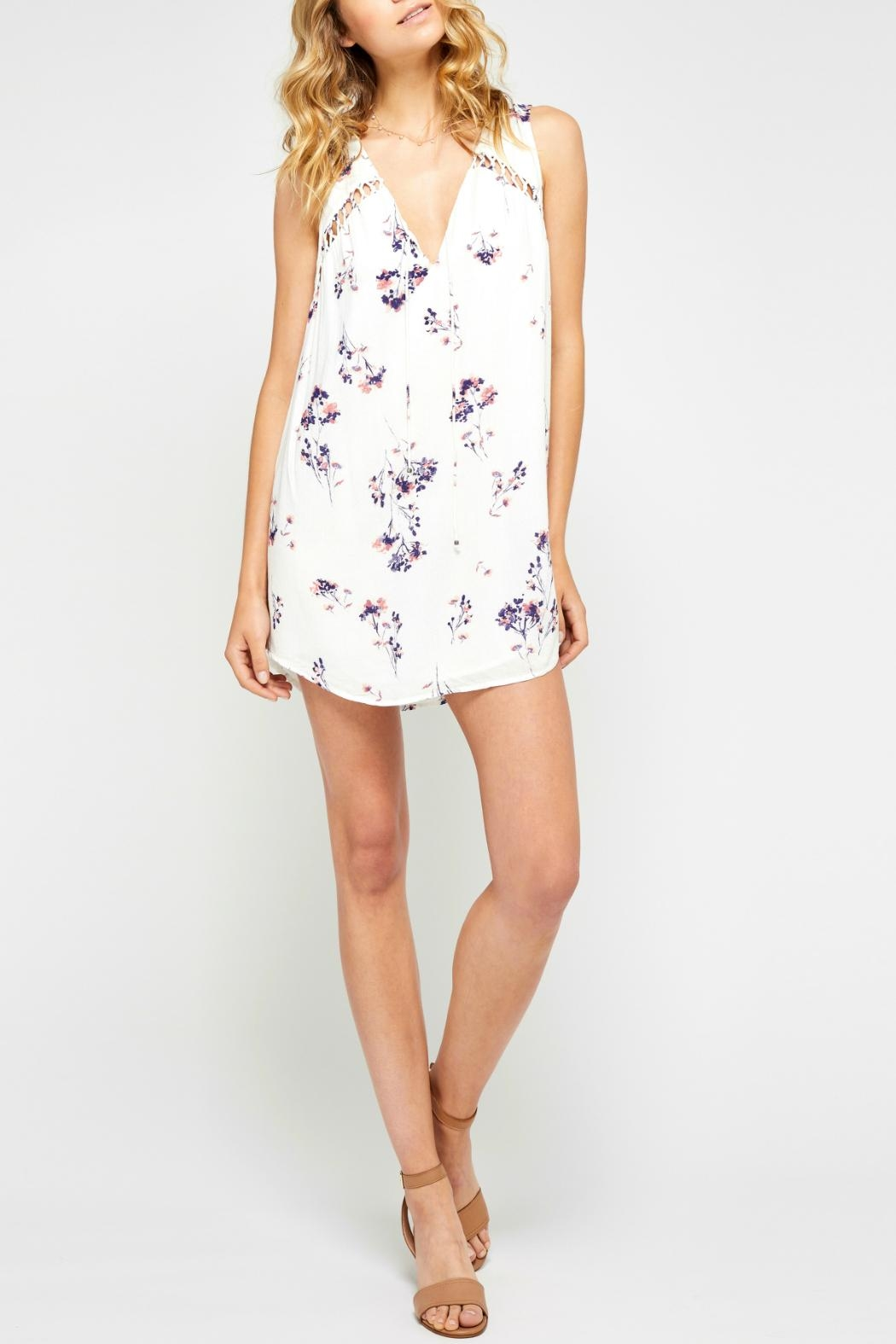 Gentle Fawn Flowy Floral Dress - Front Full Image