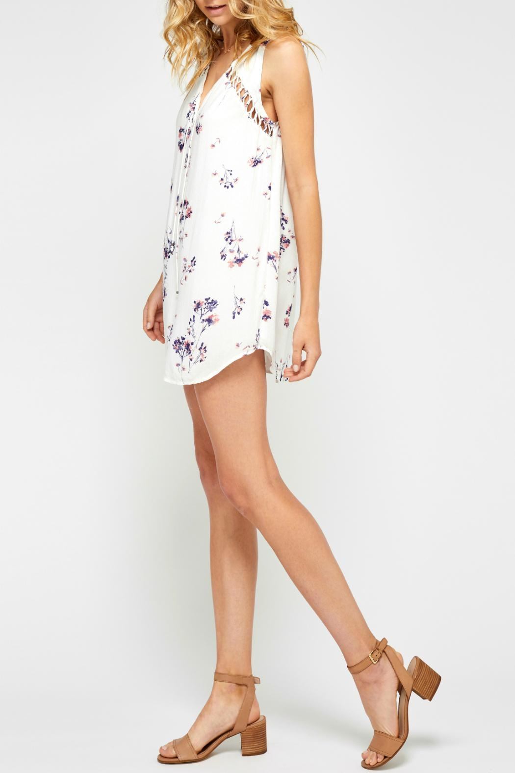 Gentle Fawn Flowy Floral Dress - Side Cropped Image