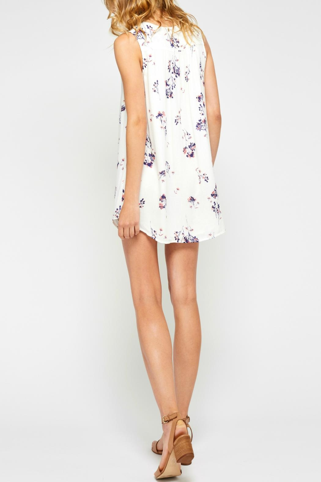 Gentle Fawn Flowy Floral Dress - Back Cropped Image
