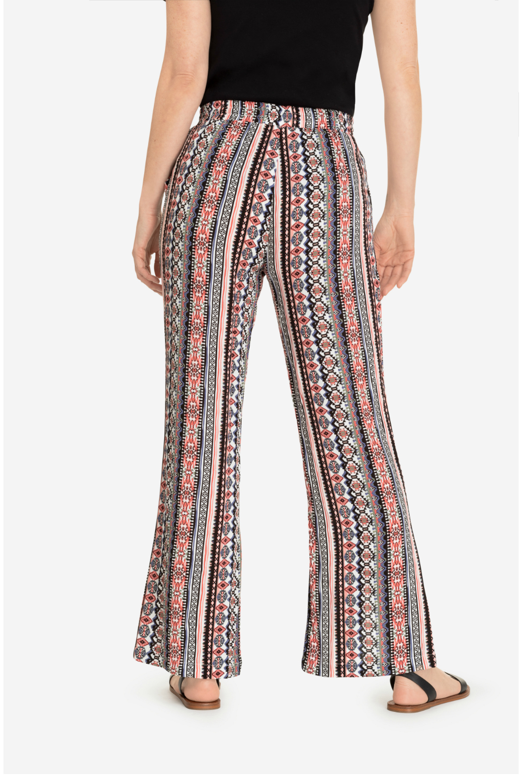 Tribal flowy pant with slit - Front Full Image