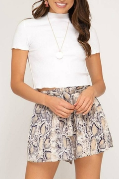 Shoptiques Product: Flowy Snake Shorts