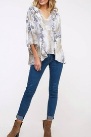 Peach Love California Flowy Snake Top - Front cropped