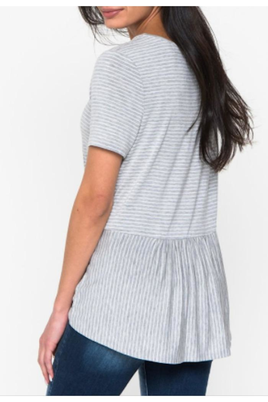 Downeast Basics Flowy Striped Top - Side Cropped Image